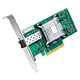 ipolex 10 GB Netzwerkkarte X520-DA1-Intel 82599ES Chipsatz 10GbE konvergierter Netzwerkadapter (NIC) -PCI Express X8 Single SFP + Port für Windows Server, Linux, PC, VMware ESX.MEHRWEG