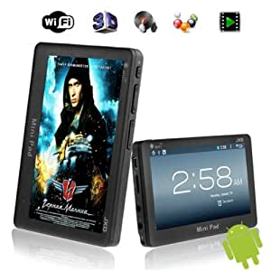 """4.3"""" JXD S18 4GB Mini Pad 1GHz DDR3 512MB Android 4.0 WIFI G-sensor Tablet PC 4.3inch MID Supports Lots Games and 32GB TF Card - Black"""