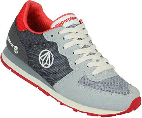 Paperplanes unisexe coloré - 1142 Plateau à chaussures de sport d'entraînement Gris - 1142-1-Gray