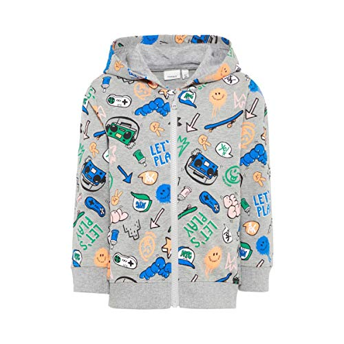 Name It Veste Sweat Let's Play Veste bébé vêtements bébé, Gris/Multicolore