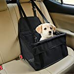 Aandyou Pet Car Booster Seat Breathable Waterproof Pet Dog Car Supplies Travel Pet Car Carrier Bag Seat Protector Cover with Safety Leash for Small Dogs Cats Puppy
