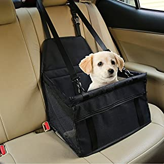 Aandyou Pet Car Booster Seat Breathable Waterproof Pet Dog Car Supplies Travel Pet Car Carrier Bag Seat Protector Cover with Safety Leash for Small Dogs Cats Puppy 51fj1aUJ0uL