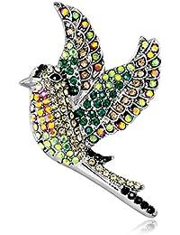 c6f4dbc45 Hosaire 1X Fashion Elegant Brooch Cute Gold Plated Swallow Decorated with  Colorful Diamond Wedding Bridal Brooch Pin Rhinestone…
