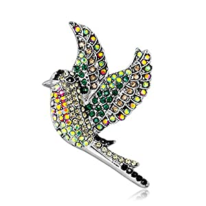 Youkara Brosche mit Diamant-Vogel für Frauen Mädchen Teenager Schmuck Abschlussball Preppy