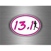 Adesivi auto tuning running girl ragazza marathon corsa a piedi - Airsoft Ragazzi Gun