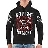 No Fight No Glory Männer und Herren Kapuzenpullover Cage (mit Rückendruck) Größe S - 8XL