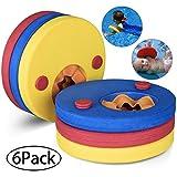 Weeygo Swim Float Disc, 6 Pcs Kids Arm Bands, Lightweight EVA Foam Float Discs for Swimming - 2-10 Years Learn To Swim Training Tools