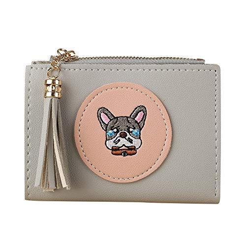 (Quaan Mode Exquisit Frau Einfach Retro Haspe Kurz Brieftasche Inhaber Brieftasche Münze Geldbörse Leder Telefon Schlüssel Kette nett Süßigkeiten Geschenk elegant Party elegant zuversichtlich)