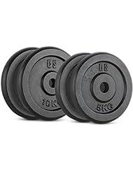 Capital Sports IPB 30 Kg Set juego de discos para mancuerna gimnasio (pesas de 2x5kg