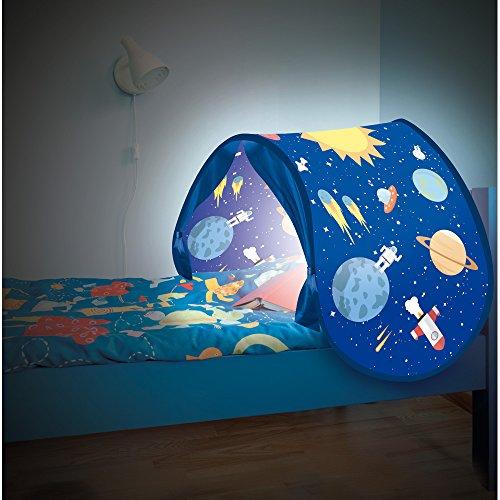 Sleepfun Tent® Magische Bett-Traumzelt Pop up-Zelt für Kinder in (2-Varianten) Party Planet oder Fairy Dream - Original aus TV-Werbung (Party Planet) -