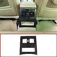 YIWANG - Marco de ventilación Trasera para Coche (ABS, Cromo, 1 Unidad, para Accesorios de Coche E90 3 Series 2005-2012)