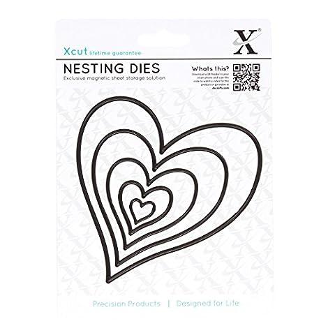 Docrafts Nesting Dies, Homespun Heart (Pack of 5)
