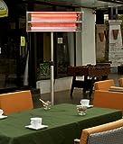Aktobis Heizstrahler, Terrassenstrahler, Balkonheizer WDH-240GT *Oberklassegerät* - komplett aus Edelstahl und mit zwei hocheffektiven