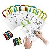 Comius Sacs à Main réutilisables, 12 Sac en Coton + 24 Crayons Textiles la Peinture Or Give Away, Idéal Les Cadeaux de Fête d'anniversaire, Les Communions...