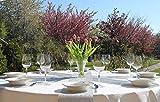 AmaCasa Vlies Tischband Tischläufer Flower Vlies Hochzeit Kommunion 23cm/25m Rolle (Silber, Vlies) - 4