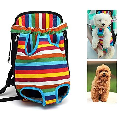 MOMAMO Hundetragetasche Hunderucksack, Rucksack für Haustier, Verstellbare Haustiertasche Beinen Out Hunde Rucksäcke, Tragbare Reisetasche