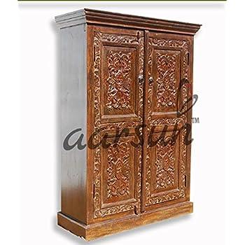 Aarsun Handmade Wooden Almirah Wardrobe In Sheesham Wood