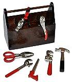 Miniatur 9 tlg. Werkzeugkasten gefüllt mit Werkzeug - für Puppenstube Maßstab 1:12 - für Werkzeuge Puppenhaus Puppenküche Werkzeugkiste
