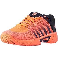 K-Swiss Performance KS Tfw Express Light HB, Zapatillas de Tenis para Hombre, Naranja (Neon Blaze/Black 22), 41.5 EU