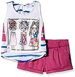 Peppermint Girls' Trouser Suit  (M-LB-SHT-3600_Fuschia_24)