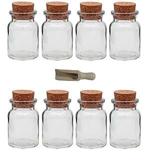 viva haushaltswaren 8 x gew rzglas 150 ml glasdose mit korkverschluss als gew rzdose. Black Bedroom Furniture Sets. Home Design Ideas