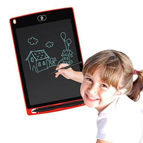 Gugutogo 8,5 Zoll LCD Schreibplatte Super Bright Schreiben Doodle Pad Reißbrett (Farbe: Rot)