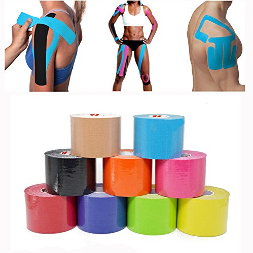 Generic Cotton Athletic Muscle Kinesio Taping Strapping Braces and Supports (5cm, Sky Blue)