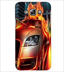 PrintDhaba Burning Car D-2044 Back Case Cover for SAMSUNG GALAXY GRAND MAX (Multi-Coloured)