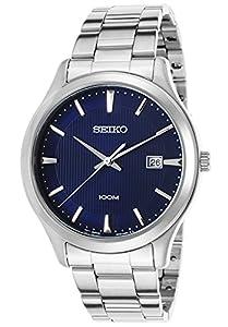 Seiko SUR049P1 - Reloj de cuarzo para hombre, correa de acero inoxidable color metalizado de Seiko