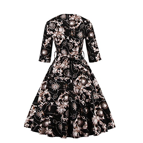 Dissa M1330 femme Rockabilly Robe de Soiré cocktail Robe de Bal Retro Noir
