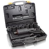 BITUXX Drehmomentverstärker Drehmomentvervielfältiger 5500 nm Drehmomentschlüssel 11 tlg Set mit 24,27,30,32,33,36,38 mm Stecknüssen