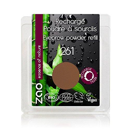 ZAO REFILL Eyebrow Powder 261 aschblond braun Nachfüller Augenbrauenpuder (bio, vegan) 111261