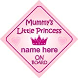 famiglia adesivo bimbo // bambina // neonato a bordo per femmina adesivo macchina bimbi bambini Principessina Beatrice 001