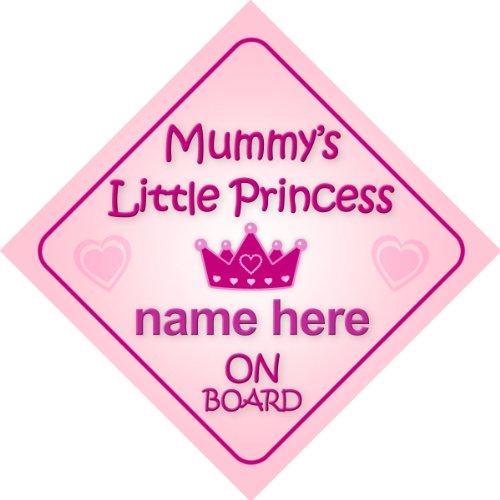 adesivo bimbo // bambina // neonato a bordo per femmina adesivo macchina bambini famiglia 001 Principessina Alice bimbi