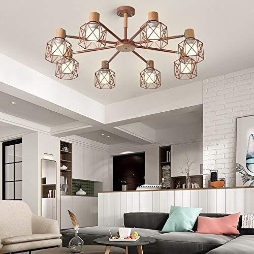 Einfache Studie führte Lampe Schlafzimmer Esszimmer Lampe 8 Roségold ohne Lichtquelle