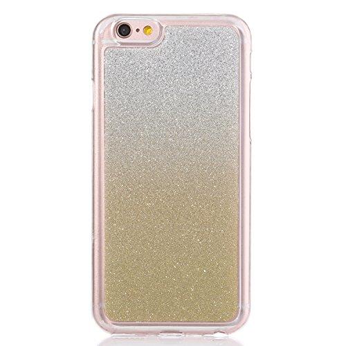 Ukayfe iPhone 6/6S 4.7 Copertura, Moda Custodia con camuffamento di Design Custodia Bumper Ultra Slim Morbido Soft Pelle Elegante Trasparente Flessibile Antiurto Cassa Protettivo Skin Protettiva Shell gradiente oro