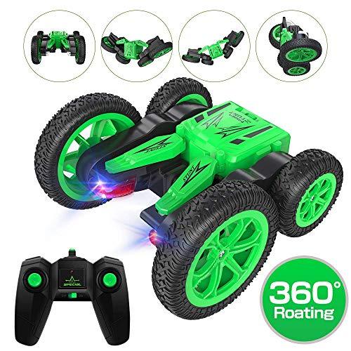 Macchina Telecomandata,Auto Radiocomandata RC Stunt Car 360 Gradi Rotazione Alta velocità 2.4 GHz Auto con Luci a LED,Ottimo regalo di Natale e regalo di compleanno per bambini e adult