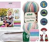 3x 100 Gramm Gründl Happy Kiddy Wolle SB-Pack Wollset inkl. Strick-Anleitung für ein Pulli (Gr. 92/98 - 104/110), Rund