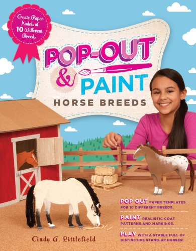Pop-Out & Paint Horsse Breed (Pferd Cut Outs)