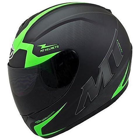MT TRUENO cara completa casco de moto escuadron verde - extra pequeño