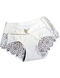 bigcity Women Breathable Sexy Silky Back Lace Hollow Seamless Panties  Underwear Briefs 6eb0fe84d