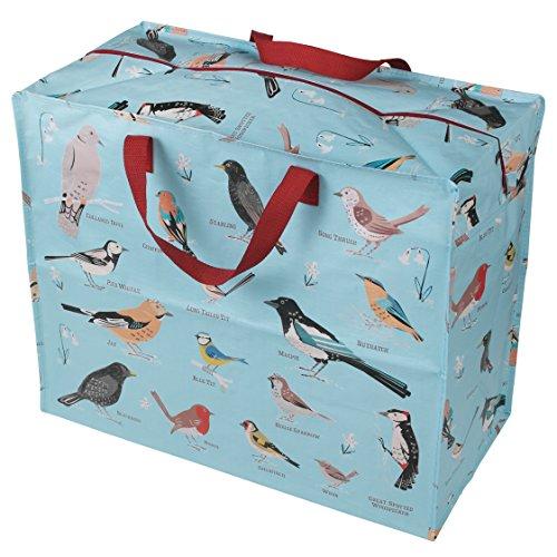 Große Aufbewahrungstasche Jumbo Bag Picknicktasche Tasche Einkaufstasche Wäschetasche Waschesack Birds