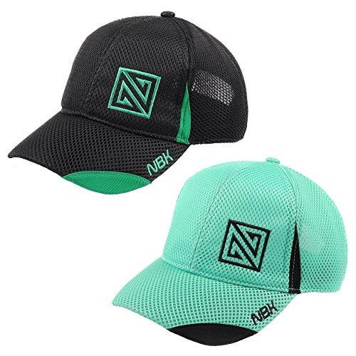 Nonbak gorra mesh casual/running tejido transpirable logo bordado Unis