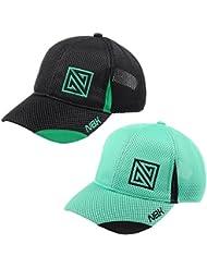 Nonbak gorra mesh casual/running tejido transpirable logo bordado Unisex 2 colores (BLACK)