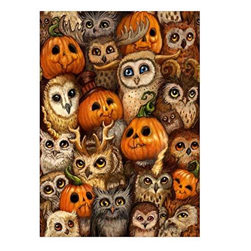Heetey Halloween Dekoration Halloween 5D Stickerei Gemälde Strass geklebt DIY Diamant Malerei Abnehmbare Umweltfreundlich Aufkleber Wandbilder Home Dekorationen für Wohnkultur - Erstellen Sie Ein Wolf Kostüm
