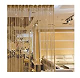 Lalang Transparent Vorhänge Gardine Schal Dekoschal für Schlafzimmer Wohnzimmer, 200*95cm (Champagner Gold)