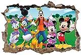 Stickers 3D Trompe L'Oeil Mickey et Ses Amis Réf 23256-30x20cm