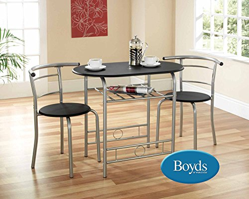 greenhurst-compact-dining-set-with-black-laminated-mdf-top-and-silver-powder-coated-steel-frame