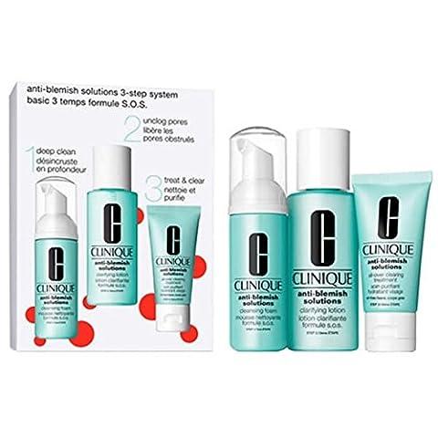 Clinique Pflege Gegen unreine Haut Anti-Blemish Solutions 3-Step SetGeschenkset Cleansing Foam 50 ml + Clarifying (Blemish Base)