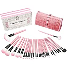 Make up Brushes Start Makers Pink Makeup Brushes Professional Cosmetics Essential 32 Pieces Makeup Brush Set with Box